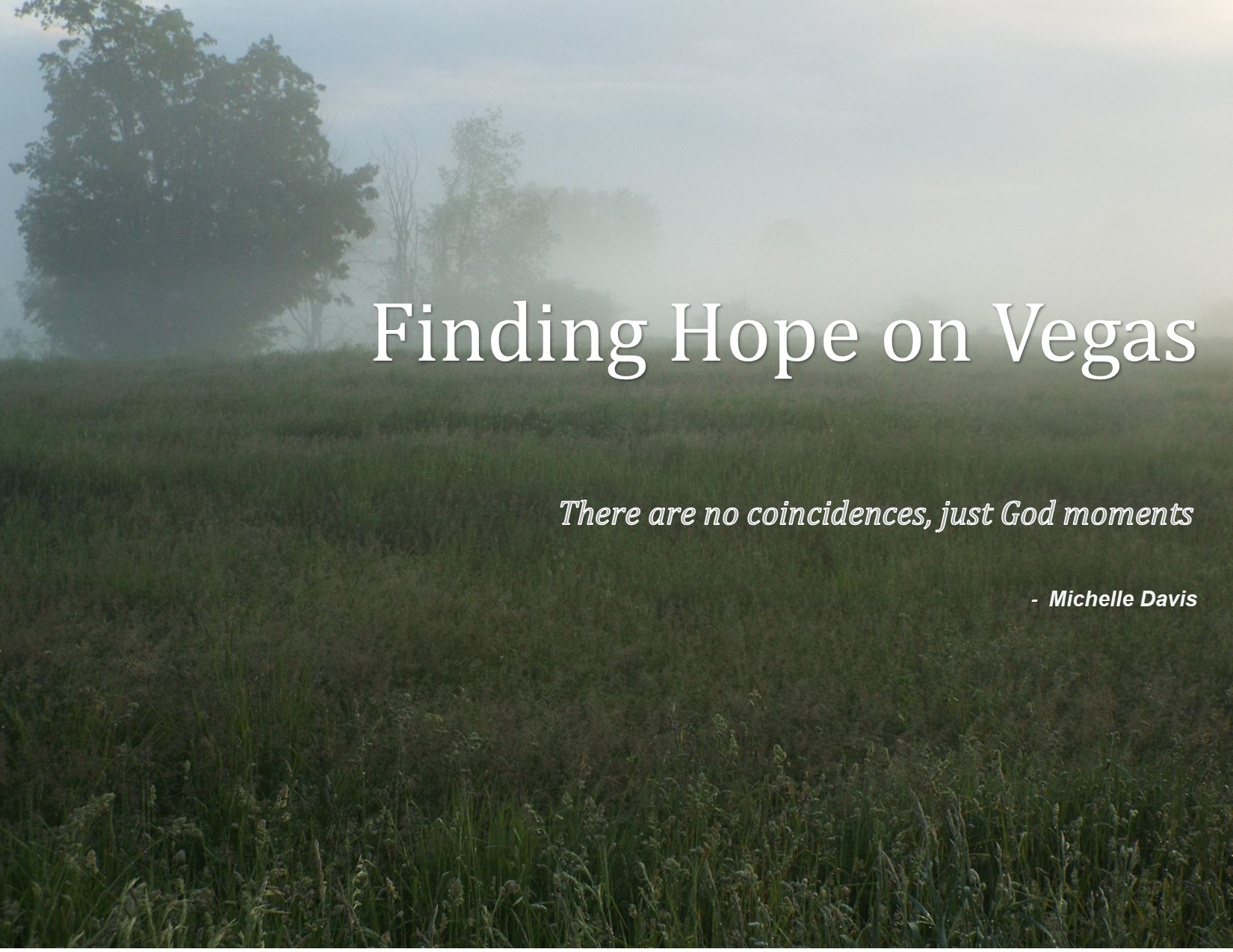 FINDING HOPE ON VEGAS POSTER 1