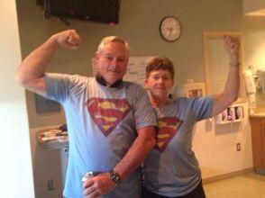 richard and kathy cassiday super man shirts