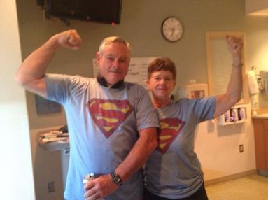 richard and kathy cassiday super man shirts